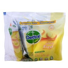 Dettol Fresh Anti-Bacterial Skin Wipes  10Wipes X 5Pcs |?sultan-center.com????? ????? ???????