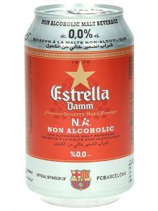 Estrella Damm Non Alcoholic Malt Beverage Can  330Ml |?sultan-center.com????? ????? ???????