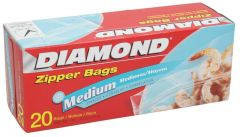 Diamond Medium Zipper Freezer Bags 20pcs | sultan-center.com مركز سلطان اونلاين