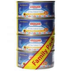 Americana White Meat Tuna In Sunflower Oil 160g x 4pcs  sultan-center.comمركز سلطان اونلاين