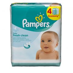 Pampers Baby Fresh Clean Wipes  46pcs x 4 |?sultan-center.com????? ????? ???????