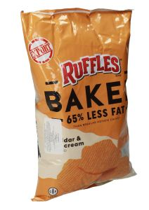Ruffles Oven Baked Cheddar & Sour Cream Chips