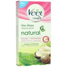 Veet Natural Wax Strips For Normal Skin 20Strips |?sultan-center.com????? ????? ???????