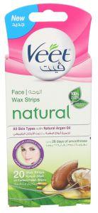 Veet Face Wax Strips  20pcs |?sultan-center.com????? ????? ???????