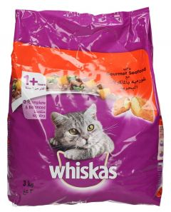Whiskas Gourmet Seafood Flavor Adult Cat Food  3kg