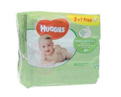 Huggies Natural Care Baby Wipes With Aloe Vera  2+1Free |?sultan-center.com????? ????? ???????