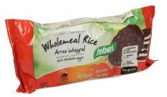 Santiveri gluten free dark chocolate whole meal Rice Cakes