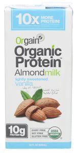 Orgain Organic Protein Lightly Sweetened Vanilla Almond Milk  946ml |?sultan-center.com????? ????? ???????