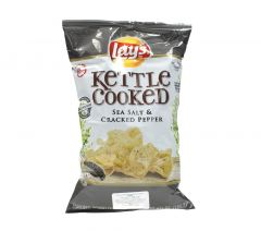 LayS Kettle Cooked Sea Salt & Cracked Pepper Chips