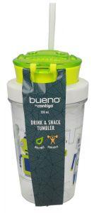 Bueno Bpa Free Green Robot Kids Drink & Snack Tumbler