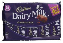 Cadbury Dairy Milk Chocolate Bars 37Gx5