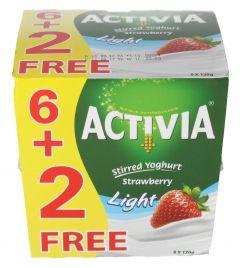 Activia Light Strawberry Stirred Yoghurt 6+2Free