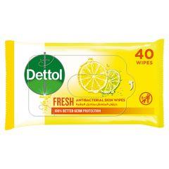 Dettol Fresh Anti-Bacterial Skin Wipes  40pcs |?sultan-center.com????? ????? ???????
