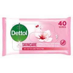 Dettol Skin Care Anti-Bacterial Wipes  40pcs |?sultan-center.com????? ????? ???????