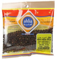 Ahlia Whole Black Pepper 75g |?sultan-center.com????? ????? ???????