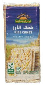 Natureland Four Grain Rice Cakes 130g |?sultan-center.com????? ????? ???????