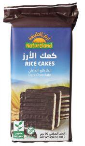 Natureland Organic Dark Chocolate Rice Cake 90g |?sultan-center.com????? ????? ???????