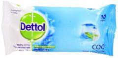 Dettol Cool Anti-Bacterial Skin Wipes 10pcs |?sultan-center.com????? ????? ???????