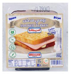 Americana Square Smoked Turkey Slice 250g |sultan-center.comمركز سلطان اونلاين