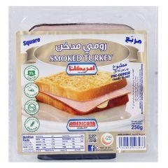 Americana Square Smoked Turkey Slice 250g  sultan-center.comمركز سلطان اونلاين