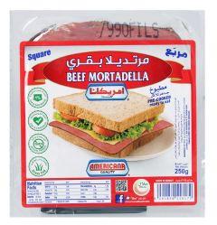 Americana Square Beef Mortadella 250g |sultan-center.comمركز سلطان اونلاين