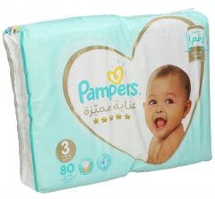 Pampers Premium Care S3 Medium Baby Diapers 6-109Kg