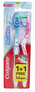 Colgate Max White Medium Toothbrush 1 + 1Free |?sultan-center.com????? ????? ???????