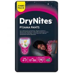 Huggies Drynites Jumbo Pyjama Pants For Girls 4-7 Years 17-30Kg
