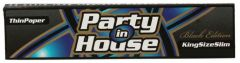 Party In House King Size Slim Black Edition Thin Paper