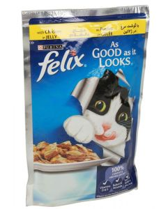 Purina Felix Chicken In Jelly Adult Cat Food