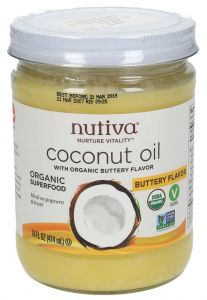 Nutiva Organic Coconut Oil With Organic Buttery Flavour 414Ml |?sultan-center.com????? ????? ???????