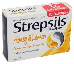 Strepsils Honey & Lemon Lozenges 36Pcs |?sultan-center.com????? ????? ???????