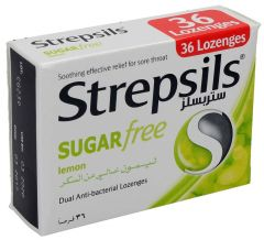 Strepsils Sugar Free Lemon Anti Bacterial Lozenges 36Pcs 36pcs |?sultan-center.com????? ????? ???????
