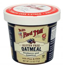 Bob's Red Mill Gluten Free Oatmeal Cup With Blueberry & Hazelnut 71G |?sultan-center.com????? ????? ???????