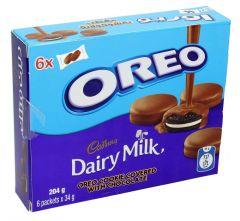 Oreo Dairy Milk Cookie Covered With Chocolate  34g x 6pcs  sultan-center.comمركز سلطان اونلاين