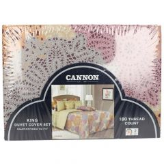 Cannon King Size Printed Duvet Cover Set
