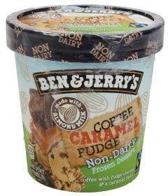 BEN & JERRY'S Non-Dairy Coffee Caramel Fudge Ice Cream