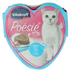 Vitakraft Poesie Salmon & Spinach Jelly Cat Food
