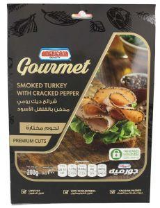 Americana Gourmet Smoked Turkey With Cracked Pepper Premium Cuts 200G