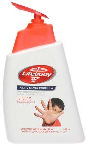 Lifebuoy Activ Silver Formula Total 10 Hand Wash 500Ml |sultan-center.comمركز سلطان اونلاين
