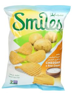 Smiles Cheddar & Sour Cream Chips