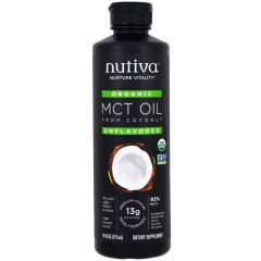 Nutiva Organic Coconut Mct Unflavored Oil