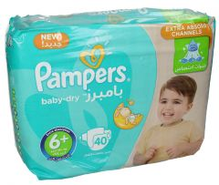 Pampers +6 Baby Dry +16Kg Diapers