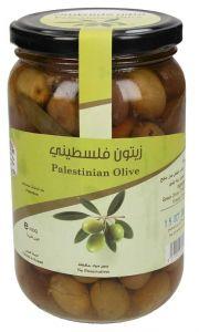 Farmers Market Palestinian Green Olive Glass Jar
