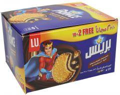 Lu Prince Chocolate Sandwich Biscuit 10 + 2 Free