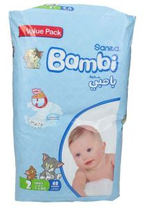 Sanita Bambi size 2 small 3-6Kg diapers