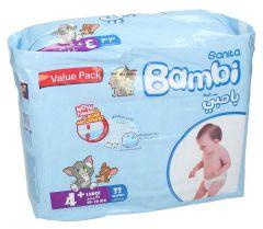 Sanita Bambi +4 Large 10-18Kg Diapers