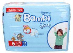 Sanita Bambi size 6 XXlarge +18Kg jumbo pack diapers