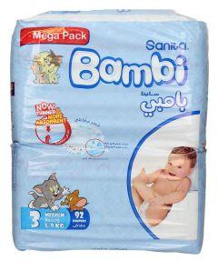 Sanita Bambi 3 Medium 5-9Kg Diapers