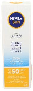 Nivea Sun Uv Face Shine Control Spf 50 High Sunblock
